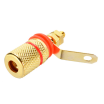 Red Speaker Terminal Binding Post Gold Plated