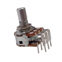 500K OHM Linear Dual Taper Potentiometer PCB Mount Round Shaft Dia: 6.35mm