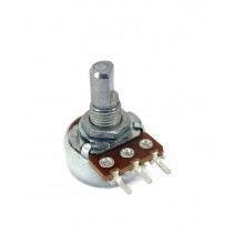 500K OHM Linear Taper Potentiometer D Shaft PC Mount