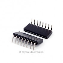 8 Pin 2.54mm Single Row Right Angle Female Pin Header