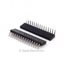 15 Pin 2.54mm Single Row Right Angle Female Pin Header