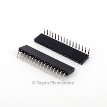 16 Pin 2.54mm Single Row Right Angle Female Pin Header