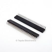 25 Pin 2.54mm Single Row Right Angle Female Pin Header