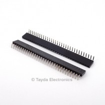 32 Pin 2.54mm Single Row Right Angle Female Pin Header