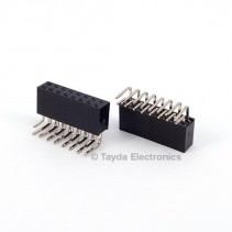 2x8 Pin 2.54mm Double Row Right Angle Female Pin Header