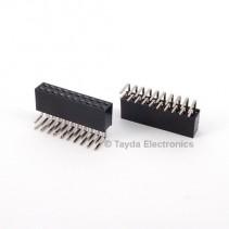 2x10 Pin 2.54mm Double Row Right Angle Female Pin Header