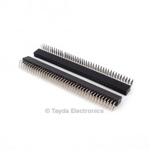 2x40 Pin 2.54mm Double Row Right Angle Female Pin Header