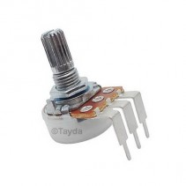 25K OHM Linear Taper Potentiometer Spline Shaft PC Mount