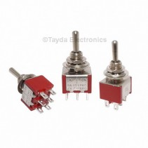 Mini Toggle Momentary Switch DPDT On-Off-On