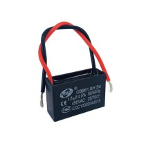 CBB61 Fan Capacitor 1.5uF 5% 450VAC 50Hz with Wire leads