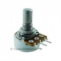 200K OHM Anti-Log Taper Potentiometer PCB Mount Round Shaft Dia: 6.35mm