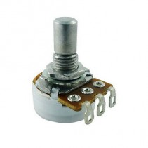 100K OHM Logarithmic Taper Potentiometer Solder Lugs Round Shaft Dia: 6.35mm