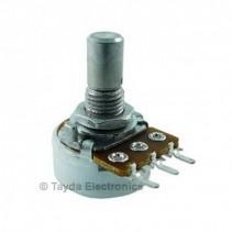 100K OHM Logarithmic Taper Potentiometer PCB Mount Round Shaft Dia: 6.35mm