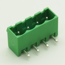 4 Pin Male Plug-In Type Vertical Terminal Block 5mm 5EHDRC