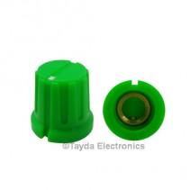 KN8F Green Knob 16x15mm