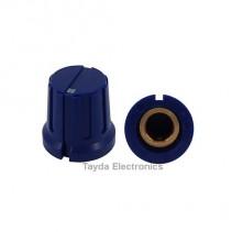 KN8F Blue Knob 16x15mm