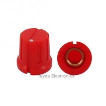 KN8F Red Knob 16x15mm