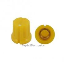 KN8F Yellow Knob 16x15mm
