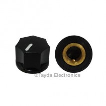 KN1250 ABS Fluted Black Knob 15x11mm