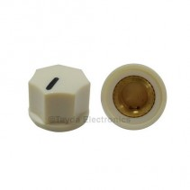 KN1250 ABS Fluted Cream Knob 15x11mm