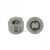 KN1250 ABS Fluted Transparent Knob 15x11mm