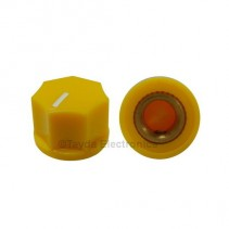 KN1250 ABS Fluted Yellow Knob 15x11mm