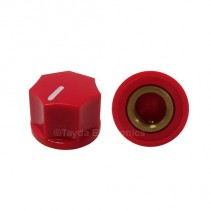 KN1250 ABS Fluted Red Knob 15x11mm