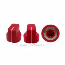 KN1611 ABS Fluted Red Knob 17x15mm