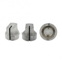 KN1611 ABS Fluted Transparent Knob 17x15mm