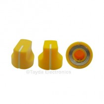 KN1611 ABS Yellow Knob 17x15mm