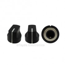 KN1611 ABS Black Knob 17x15mm