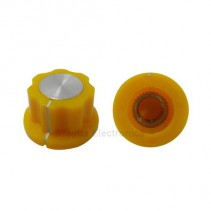 Boss Style Yellow Knob 20x12mm