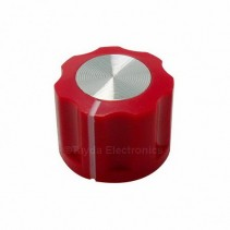 KN1360 ABS Fluted Red Knob 16x12mm