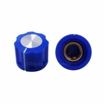 KN1360 ABS Fluted Blue Knob 16x12mm