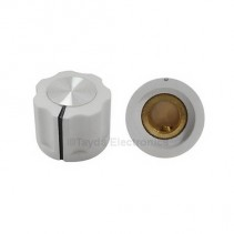 KN1360 ABS Fluted White Knob 16x12mm