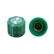 KN1360 ABS Fluted Green Knob 16x12mm