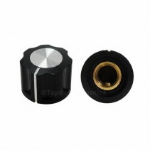 KN1360 ABS Fluted Black Knob 16x12mm