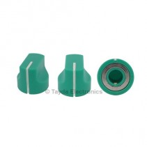 KN1611 ABS Green Knob 17x15mm
