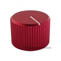 Knurled Aluminum Red Knob
