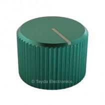 Knurled Aluminum Green Knob