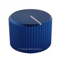 Knurled Aluminum Blue Knob