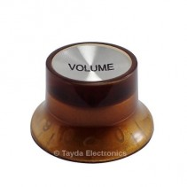 Amber Gibson SG Style Knob with Volume Label