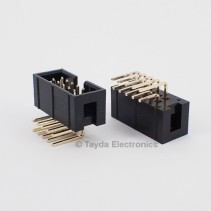 10 Pin Box Header Connector 2.54mm Right Angle 2*5pin