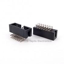14 Pin Box Header Connector 2.54mm Right Angle 2*7pin