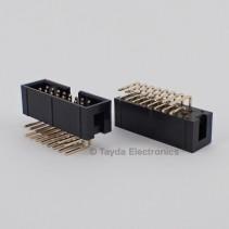 16 Pin Box Header Connector 2.54mm Right Angle 2*8pin