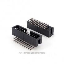 20 Pin Box Header Connector 2.54mm Right Angle 2*10pin