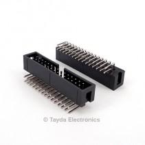 30 Pin Box Header Connector 2.54mm Right Angle 2*15pin