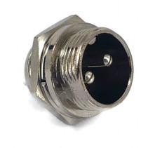 2 Pins Male circular connector 16mm GX16