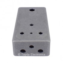 GREY Drilled Enclosure for PedalPCB 3 Knob Type 1