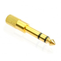 "3.5mm Female to 6.35mm 1/4"" Male Stereo Audio Jack Adaptor Gold Plated"